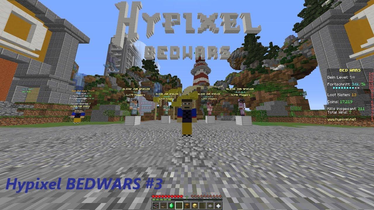 MINECRAFT BEDWARS DUO HYPIXEL ALLEINE KANN MAN JA DOCH NOCH LANG - Minecraft alleine spielen