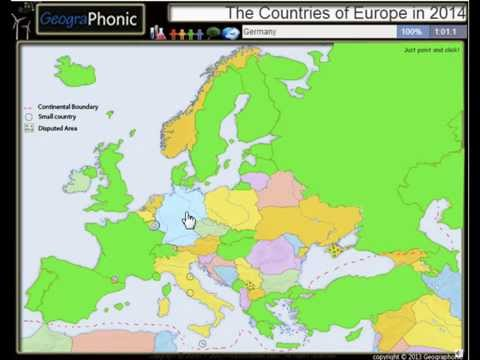 Страны Европы в 2014 году Нью-карте Европы включены Косово и Крым в составе России
