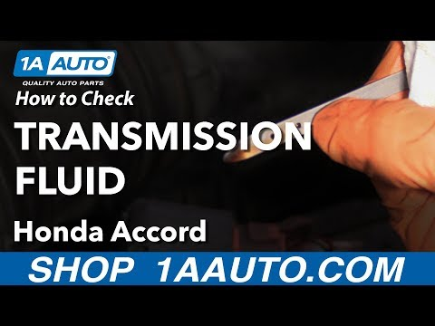 How to Check Automatic Transmission Fluid 03-07 Honda Accord