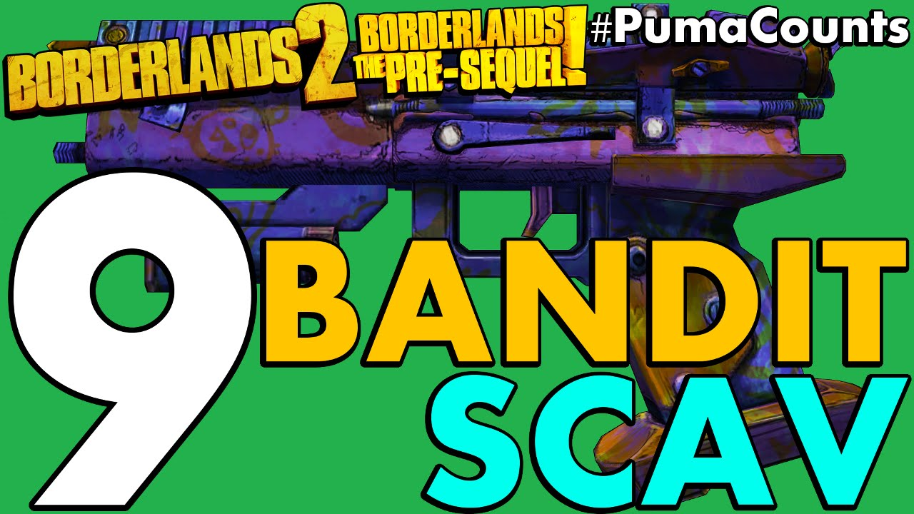 Top 9 Best Bandit And Scav Guns And Weapons In Borderlands 2 And The