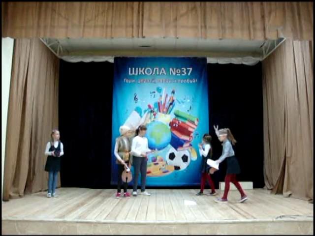Изображение предпросмотра прочтения – «Творческая группа девочек» читает произведение «Квартет» И.А.Крылова