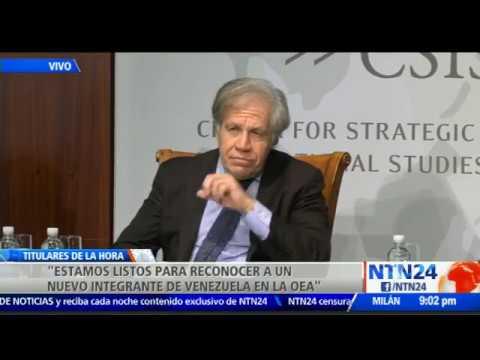 """Almagro: """"el Gobierno interino de Venezuela deberá lograr decisiones históricas"""""""