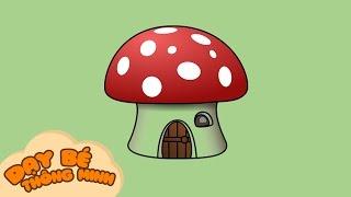 Bé tập vẽ tranh | Hướng dẫn học vẽ ngôi nhà bằng bút chì | Dạy bé thông minh