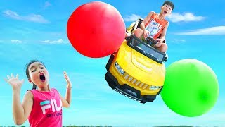 Kay play car toys with ballons color