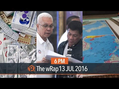The Hague ruling, Duterte's rating, contraceptives | 6PM wRap