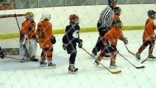 Kids Ice Hockey Game - end of game