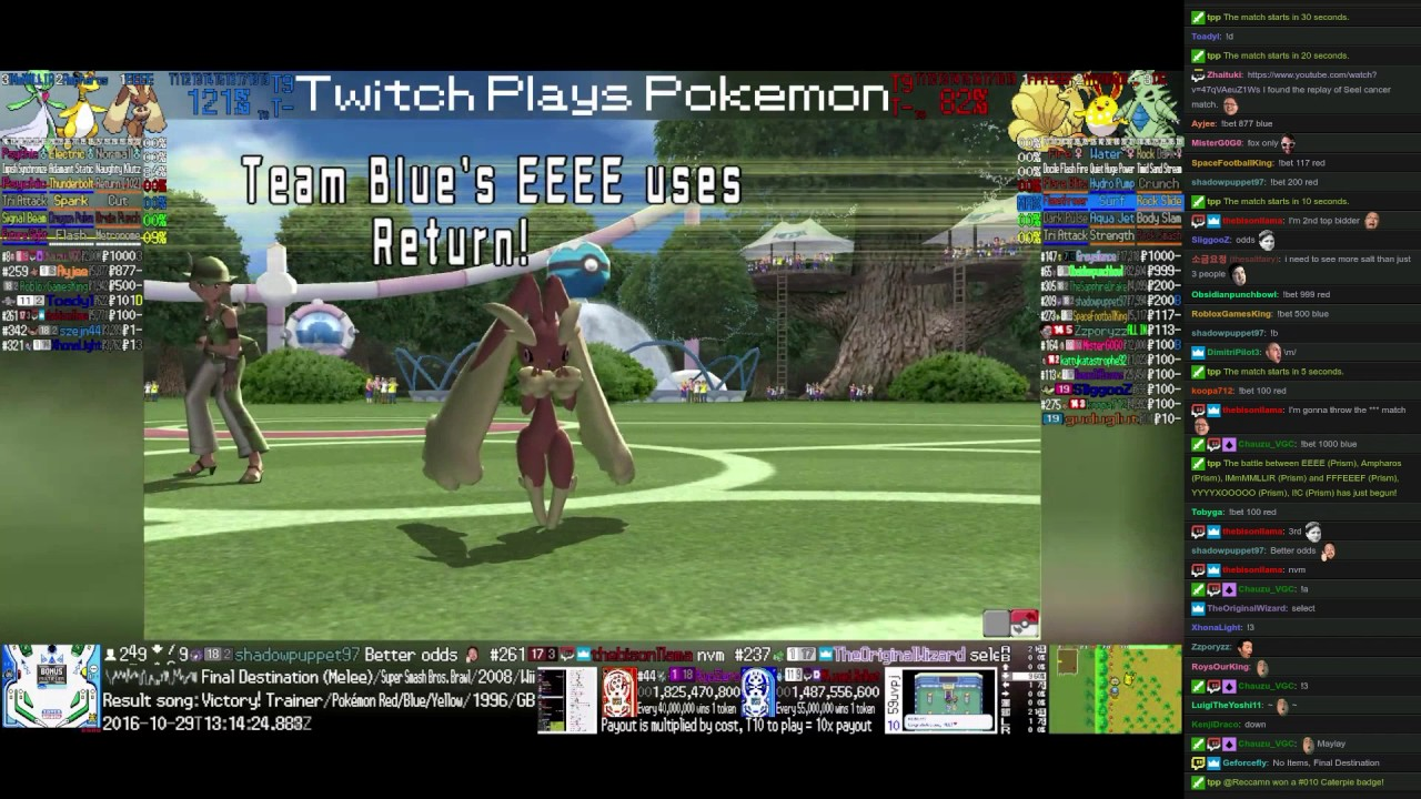 Twitch plays pokemon battle revolution betting line e-games online betting