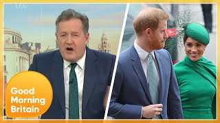 'I'm Sickened' Piers & Susanna Clash Over Prince Harry & Meghan Interview | Good Morning Britain