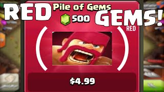 Clash Of Clans Red Gems Update | Buying New Red Gems Product (Red) Update