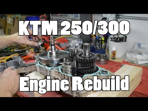 How-To: KTM 250 300 380 SX MXC EXC Top & Bottom Engine Rebuild 2003-2015