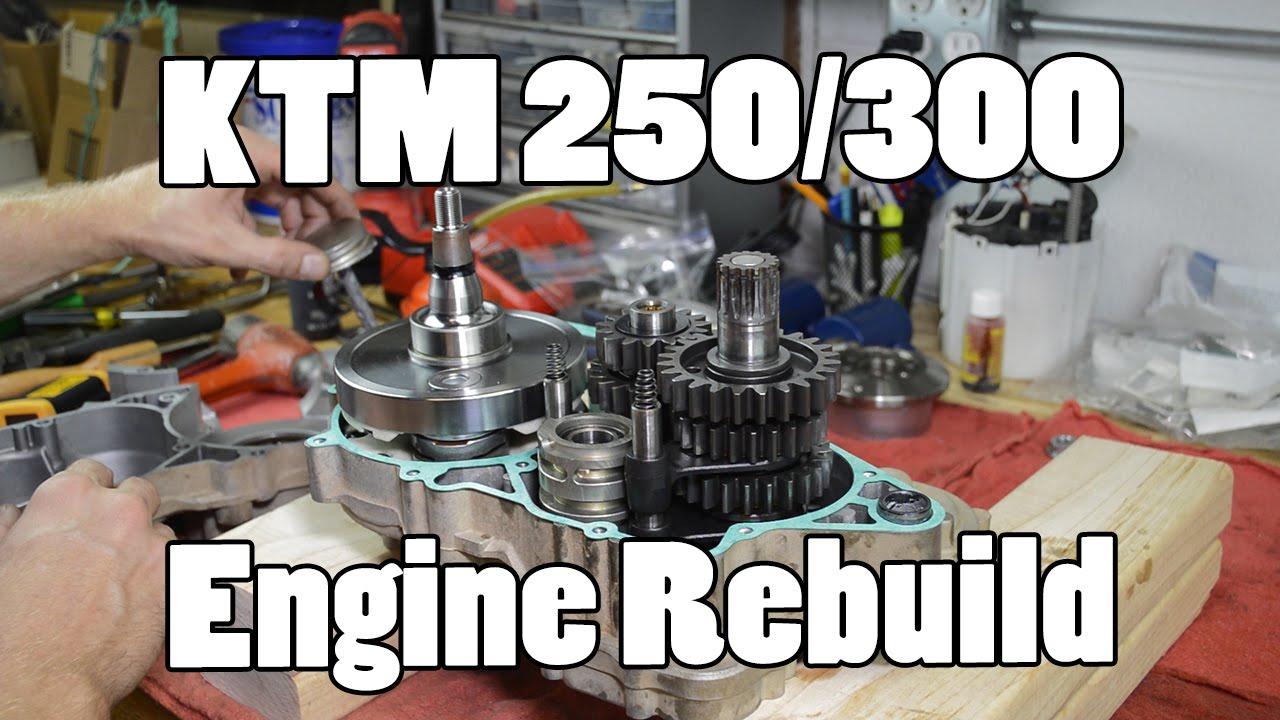 how-to: ktm 250 300 380 sx mxc exc top & bottom engine rebuild