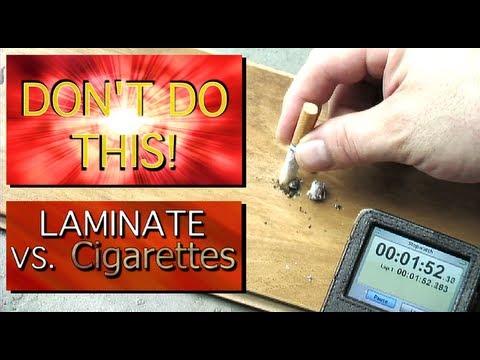 Don T Do This Laminate Flooring Vs Cigarette Burns Fire Resistance Test