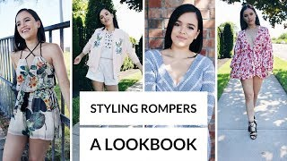 HOW I STYLE ROMPERS - A LOOKBOOK! | CassidySecrets