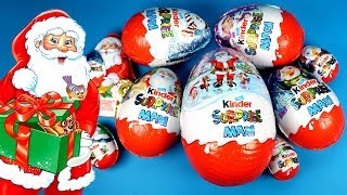 🎅 Christmas Super Surprise Eggs Giant Kinder Surprise Maxi Opening with Fun Christmas Surprise Toys