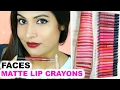 Faces Ultime Pro Lip Crayon | GIVEAWAY+ SWATCH+ REVIEW | ShrutiArjunAnand