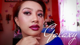 I Tried Following Michelle Dy's Galaxy Makeup Look | Carlamae Cahilig