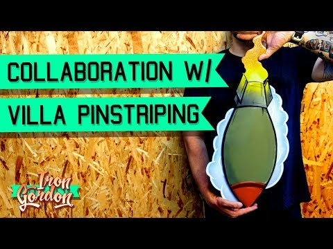 Lowbrow Wood Cutout Bomb PART 1 Collaboration with Villa Pinstriping
