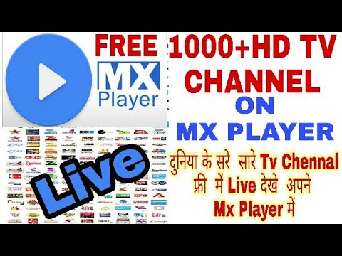 1000+ live tv channels in MX player,MX player Me live TV channel kaise deakhe bilkul Free me