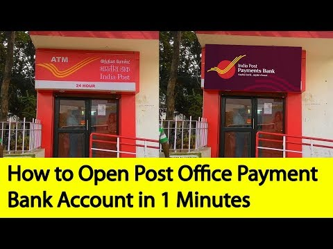 How to Open Post Office Payment Bank Account | Tamil Banking