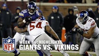 Giants vs. Vikings | Week 16 Highlights | NFL