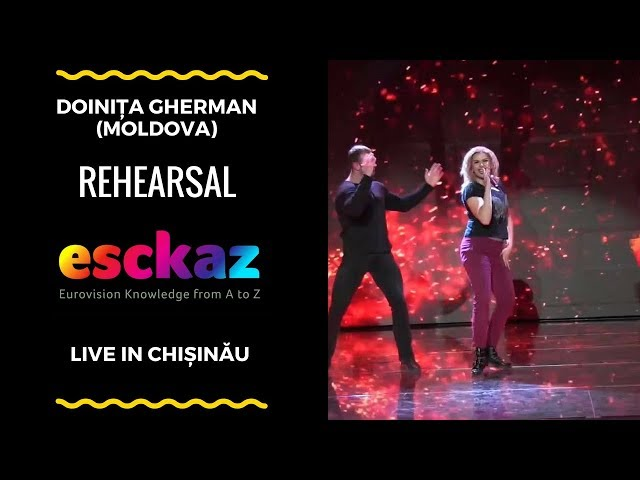 ESCKAZ in Chișinău: Doinița Gherman - Dance In Flames (rehearsal)