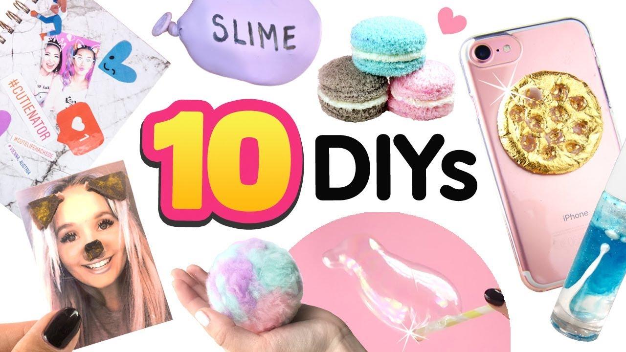 5 MINUTEN DIYs Geschenke 😍 10 Ideen!!! ⭐ Wie macht man Spielzeug ...