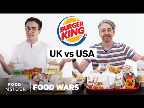 US vs UK Burger King | Food Wars