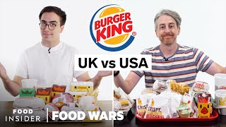 US vs UK Burger King | Food Wars