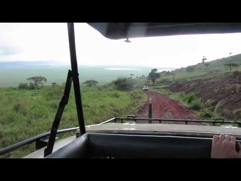 Safari at Ngorongoro Conservation Area, Tanzania - Descent from crater rim to floor