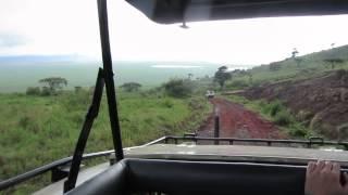 Safari at Ngorongoro Conservation Area, Tanzania - Descent from crater rim to floor