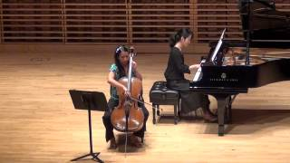 Taide Prieto plays Cello Sonata No. 2 in F major, Op. 99 by Johannes Brahms part 2