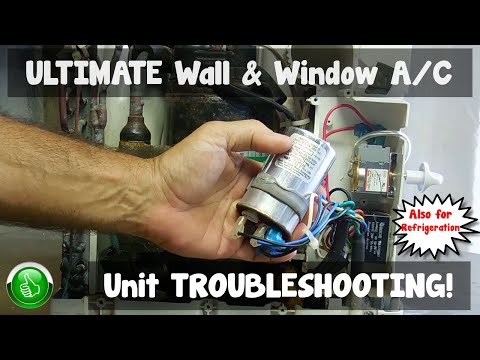 how to replace an ac a c window unit fan motor ash18dbs1 rh youtube com