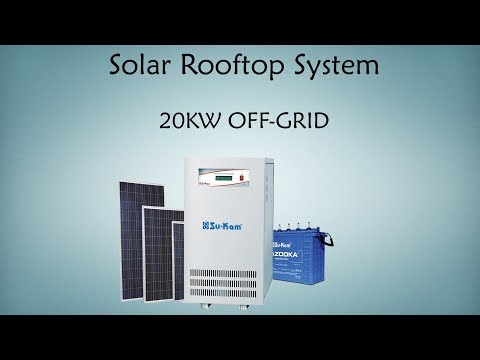 Solar rooftop system | 20kW Off-Grid