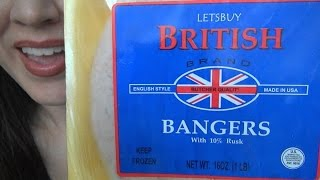 ASMR: Bangers & Mash  | British Food | Shopping Haul | Eating Sounds