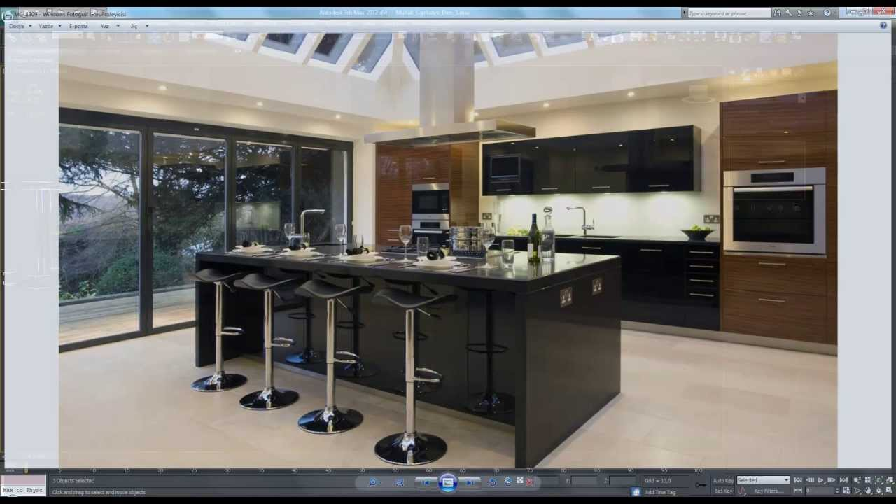 3ds max kitchen tutorial 7 of 8 youtube