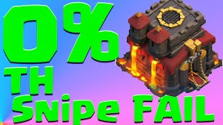 Clash Of Clans Biggest Fails Ever 0% On TH Trap Snipe| Clash of Clans Fail