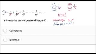 p series convergence and divergence