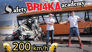 World's fastest crash test 208+ km/h| Скорост| Safety BRI4KA Academy