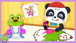 Раскраска Малыша Панды.Развивай Творческие Способности вместе с Кики.Обучающая Мульт Игра