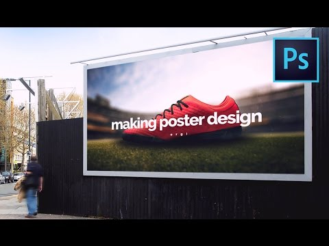 Photo Manipulation - Make a Soccer Shoe Advertising Poster In Photoshop Speed Art