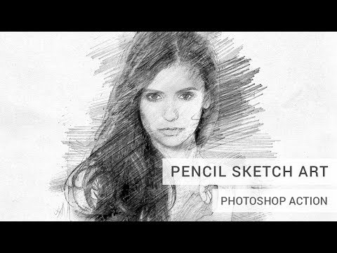 Pencil Sketch Art Photoshop Action Tutorial