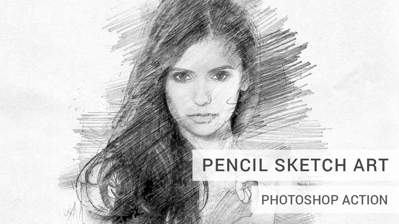 Line Art To Sketch Pencil Photoshop Action