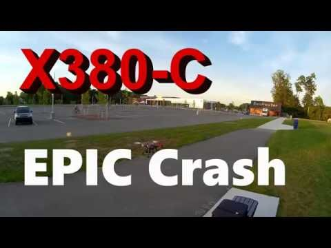 XK X380-C EPIC Crash - Fell from the sky like a rock