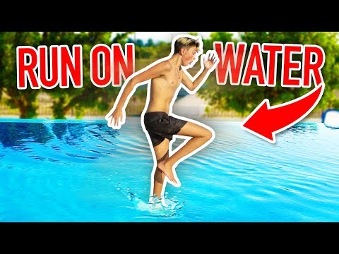 RUNNING ON WATER CHALLENGE!! (How to Run on Water)