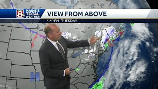 Snow ends tonight as colder air arrives for the holiday