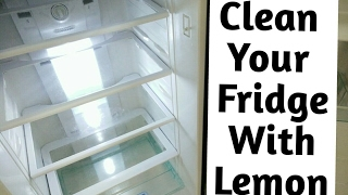 How To Clean Refrigerator With Lemon | CraftLas