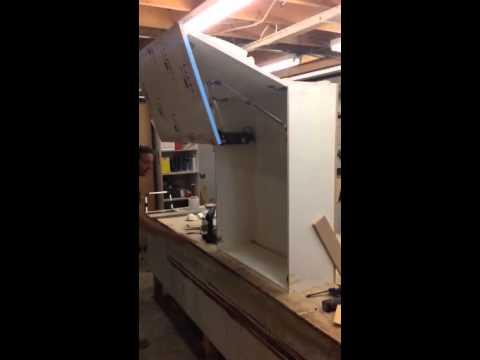 Cabinet Electric Flip Up Door Youtube