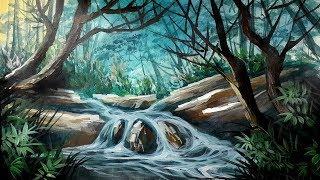 Cara gang melukis pemandangan alam