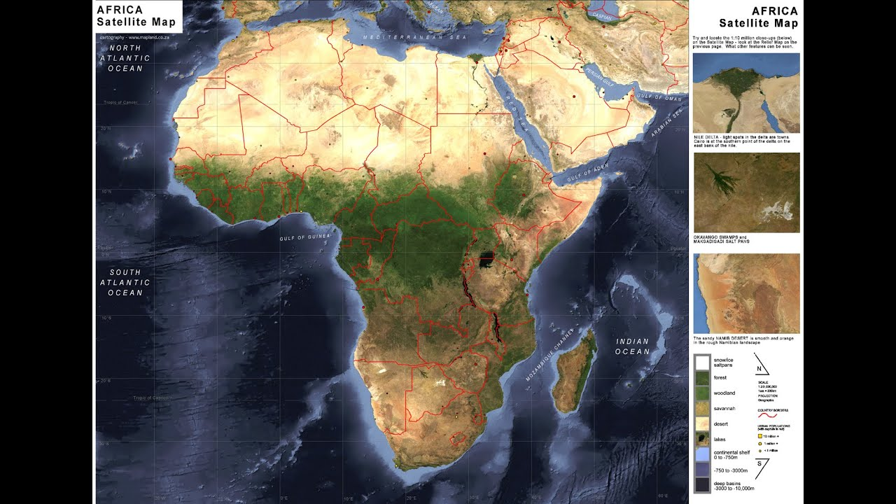 All Countries Of Central Africa Shown On Map YouTube - World map satellite view video