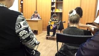 Казань, ДМШ №4, открытый урок . Балалайка после 2 мес занятий